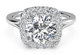 set ring cut set halo diamond engagement ring in platinum 0 20 ctw