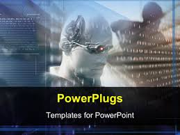 powerpoint template future science technology virtual reality