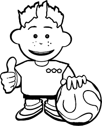 kid soccer playing football coloring page wecoloringpage