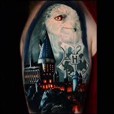 harry potter castle owl u0026 hogwarts coat of arms best tattoo