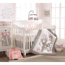 levtex baby night owl 5 piece crib bedding set pink baby