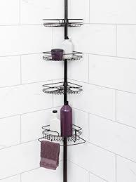 Bathroom Caddies Shower Zenna Home 2132hb Tension Corner Pole Caddy