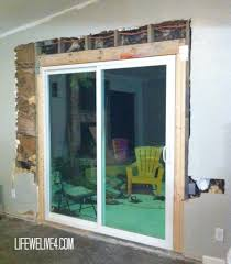 Framing Patio Door Diy Install Patio Door Remodel Pinterest Patio Doors Patios