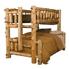 cedar log bunk bed mountain houses bunk bed and kids rooms