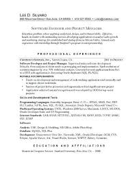 Resume For Software Testing Experience Software Experience Resume Sample Software Manager Resume Example