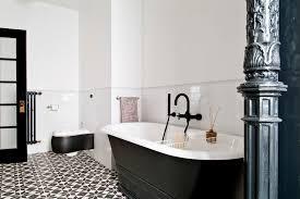 Black Faucet Bathroom by Marvelous Black Tile Floor Kitchen Farmhouse With Cherry Wood