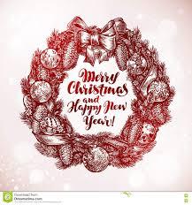 vector template image christmas garland christmas season of giving