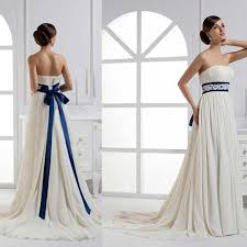 bridesmaid dress designers stylish white and royal blue