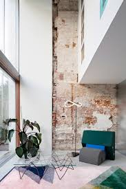 exposed brick wall lighting rotterdam house with exposed brick walls and industrial lighting
