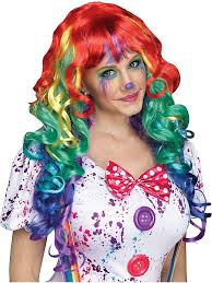 Ladies Clown Halloween Costumes 27 Clown Wigs Images Clown Wig Clown Costumes