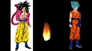 super saiyan 4 goku vs super saiyan blue goku who would win