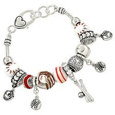 charm bracelet from pandora images Pandora inspired baseball sport theme charm bracelet bat glove ball jpg