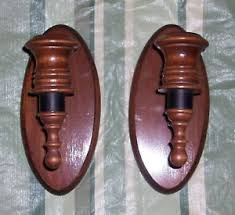 home interior sconces home interior sconces wood candle holder 2 lot set ebay