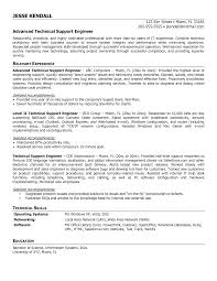 Massage Resume Resume Examples Tech Support Technical Support Engineer Resume