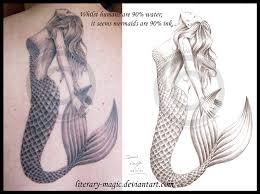 mermaid tattoo by literary magic on deviantart
