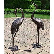 birds metal lawn ornaments you ll wayfair
