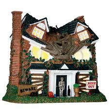 lemax halloween houses lighted buildings gift spice