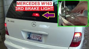 mercedes light replacement mercedes w163 ml third brake light stop light bulb replacement
