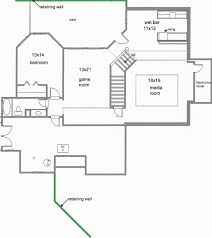 basement floor plans with 2 bedrooms impressive home tips small