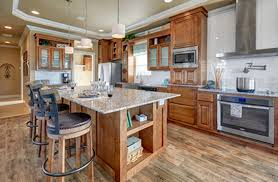 manufactured homes kitchens redman homes 4602s uk2 420 redman mobile homes kitchen with stainless steel appliances island