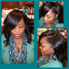 full sew in with deep side part and minimal leave out yelp