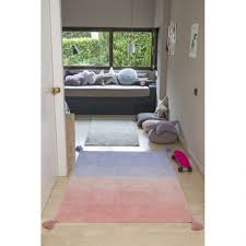washable ombre rug coral and lavender little crown interiors