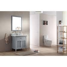 31 Bathroom Vanity by Ace 31 Inch Cottage Single Sink Bathroom Vanity Set In Grey Finish