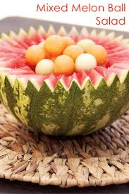 simple mixed melon ball salad recipe go dairy free