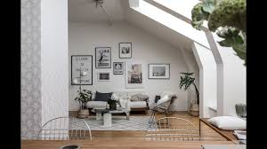 Attic Apartment by Tour Scandinavian Attic Apartment Stockholm Youtube