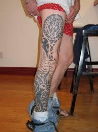 102 graceful tribal tattoos for leg