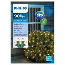 philips 90ct led 4 x 4 sphere net lights warm white target