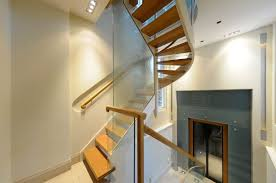 Crescent Stairs by Helical Staircase Wooden Steps Wooden Frame With Risers