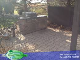Outdoor Patio Grill Island Outdoor Kitchens Pools Wichita Ks Treescapes