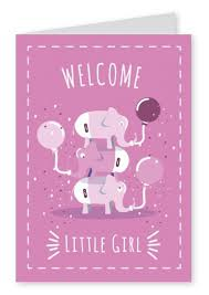welcome little baby u0026 family send real postcards online