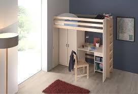 lit superpos bureau lit superpose avec armoire mezzanine 90 x 200 cm morphea sommier