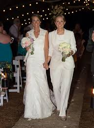 wedding attire girls brides pants suit lgbt