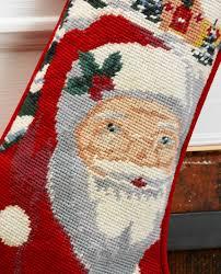 personalized needlepoint christmas christmas needlepoint personalized christmas santa