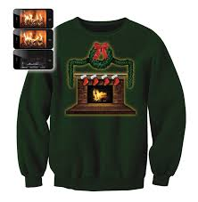 digital dudz fireplace sweatshirt sweater