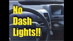 2002 toyota prius warning lights 2004 2009 toyota prius no dash lights fix youtube