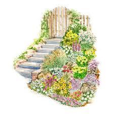 easy slope garden plan