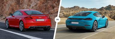 porsche family car audi tt rs vs porsche 718 cayman s comparison carwow