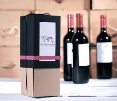 wine bottle gift box wine bottle box with washi