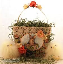 vintage easter baskets 37 best vintage easter basket images on vintage easter