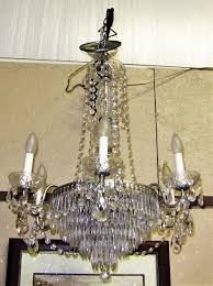 vintage schonbek crystal 6 arm chandelier rockwell antiques dallas