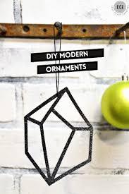 modern christmas ornaments geometric gems east coast creative blog