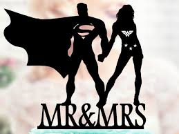 superman wedding cake topper superman and woman silhouette mr and mrs wedding cake