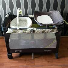 Changing Table For Pack N Play Pack N Play With Bassinet And Changing Table D With Newborn Graco