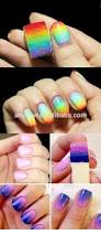 beauty salon nail art painting color gradient design triangle
