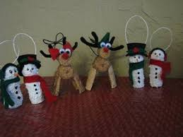 snowmen reindeer and a made from wine corks occasions and