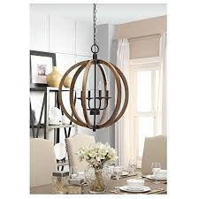 Metal Chandelier Frame Contemporary Metal And Wood Frame Orb Chandelier Walmart Com